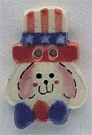 86127 - Uncle Sam Bunny 3/4in x 1in - 1 per pkg